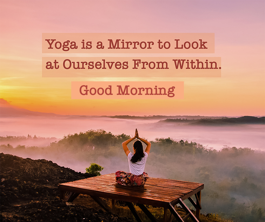 Good morning Yoga Quote Picture