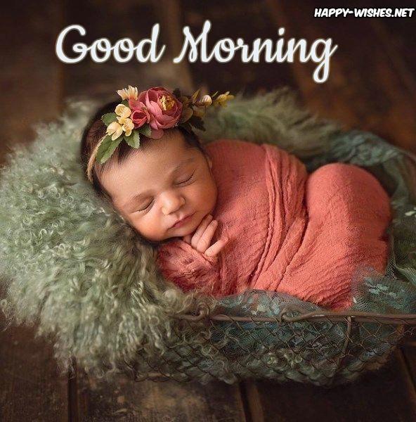 Good morning sleeping Baby images