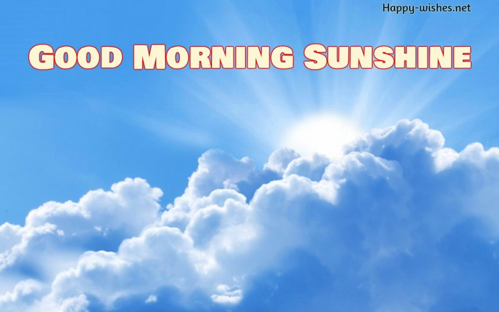 Good morning sun shine over the cloud images