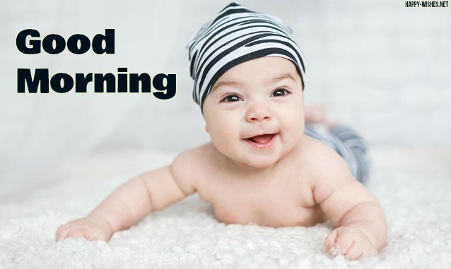 Good morning wishes with Baby Boy images