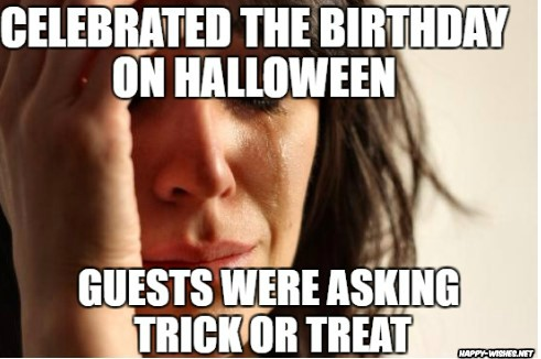 Guest Asking for trick and treat on birthday