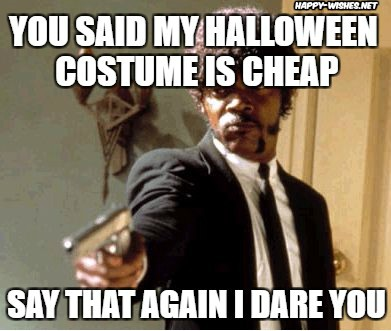 Cheap Halloween costume meme