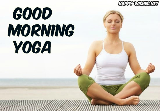 Morning Wishes With Girl Doing Yoga