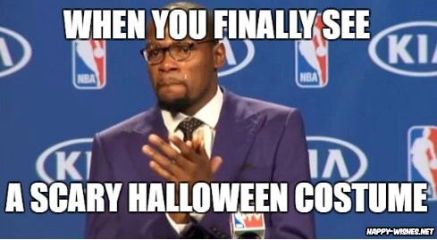 Applause for scary Halloween meme