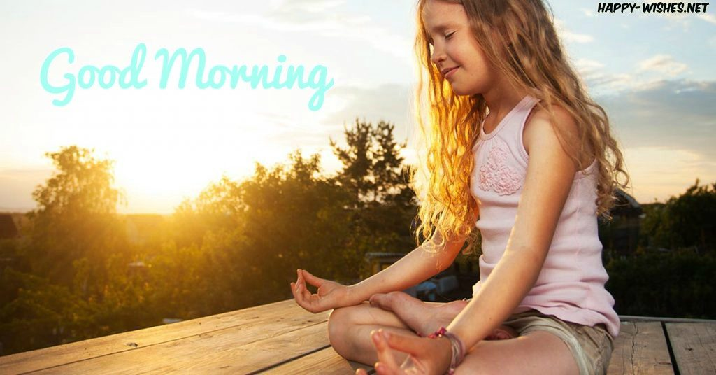 Small Girl Doing Yoga Good Morning Images