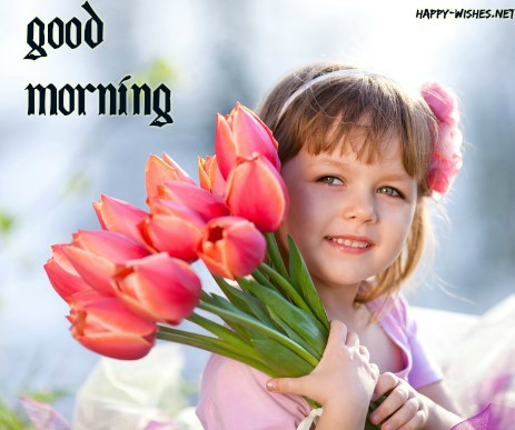 Small Girl Good morning wishes