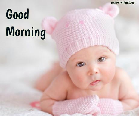Small cute kid Good morningimages