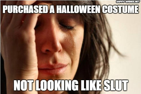 Woman look like slut wearing Halloween Costume
