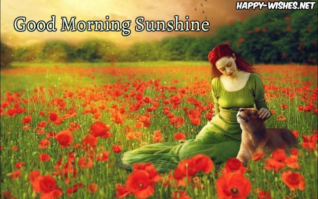beautiful ladY in the morning Good morning sun shine