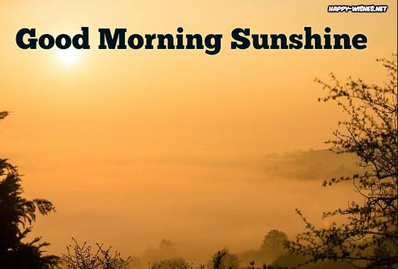 best Good morning sun shine images