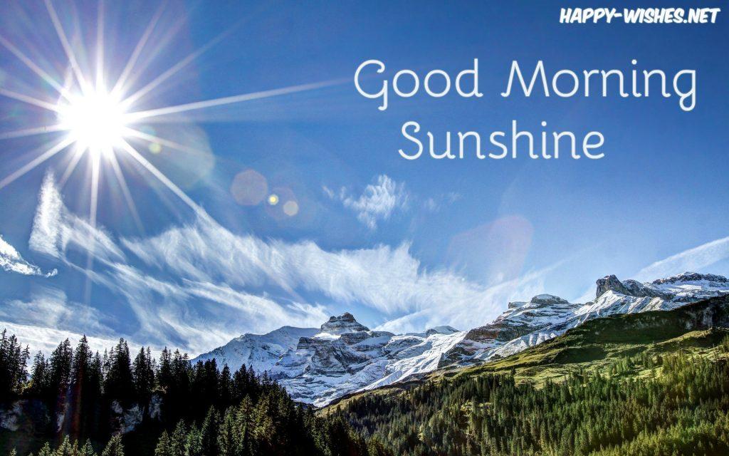 sunshine-mountain-summer-Good morning sun shine images