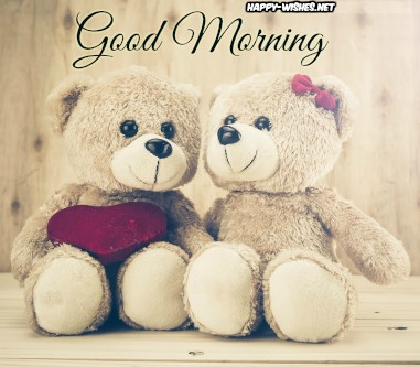 Best Good Morning Teddy wishes with teddy coupel