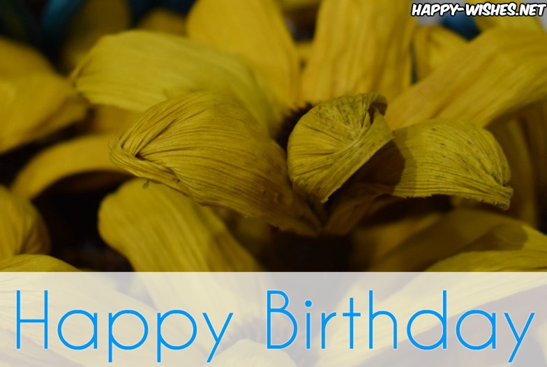 Best Happy Birthday wishes with yellow flower images