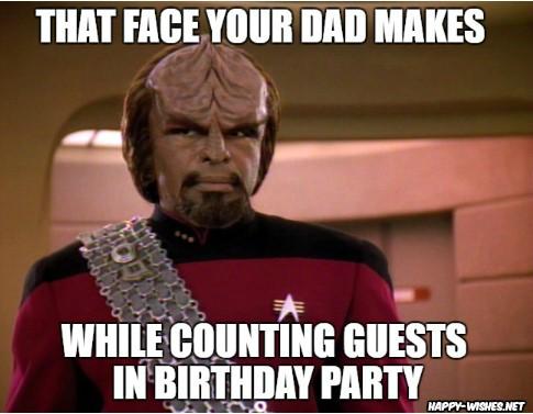 Best funny star trek birthday meme Commander_Worf