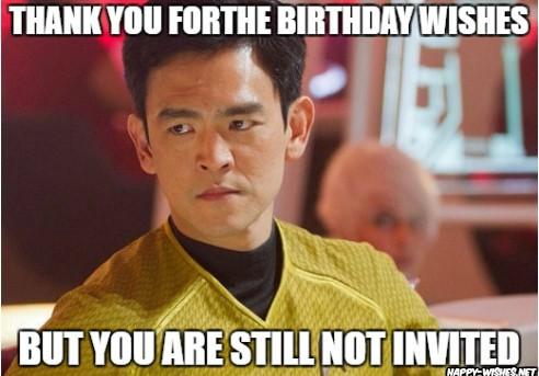 Best funny star trek birthday meme HIKARU SULU