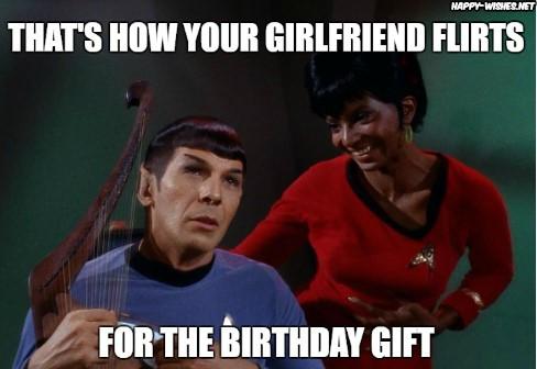 Best funny star trek birthday meme spock and uhura memes