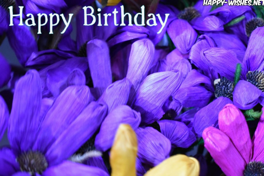 Happy Birthday Wishes With Flower images
