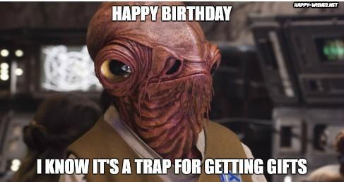 Best star wars Funny happy birthday meme admiral ackbar