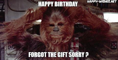 Best star wars Funny happy birthday meme chewbacca