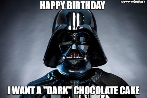 Best star wars Funny happy birthday meme darth vedar memes