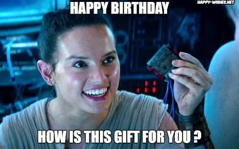 Best star wars Funny happy birthday meme rey memes