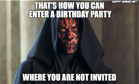 Best star wars Funny happy birthday meme with darth maul