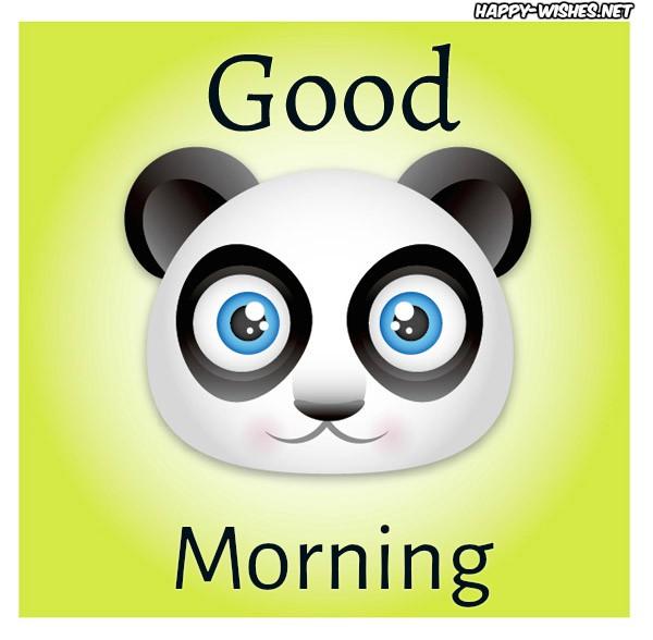 Cute Good Morning Panda Images