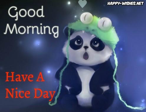 Female Panda Good Morning Wishes