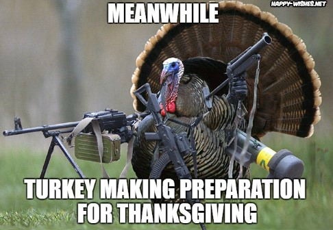 Funny turkey memes on Thanksgiving images