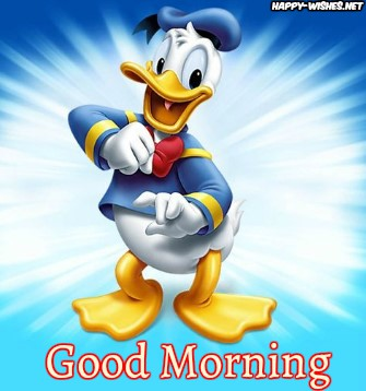 Good Morning Cartoon Images With Donald Duck Images Photo