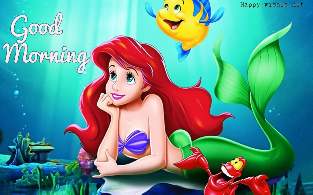 Good Morning Cartoon Images With Fish Girl Photo