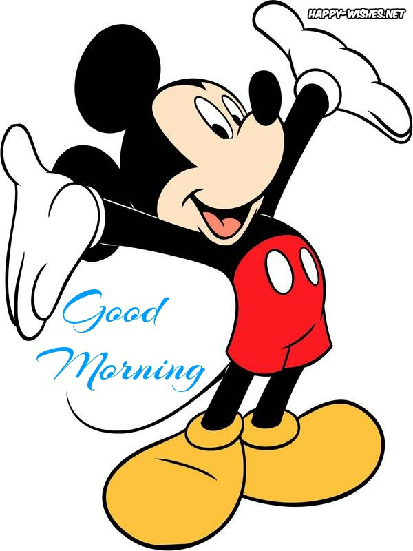 Good Morning Cartoon Images With Micky Mouse Dog Photo