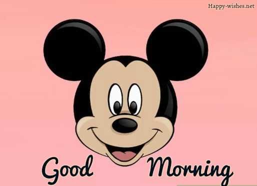 Good Morning Cartoon Images With Micky Mouse Photo