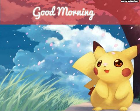 Good Morning Cartoon Images With Pikachu Cartoon Photo