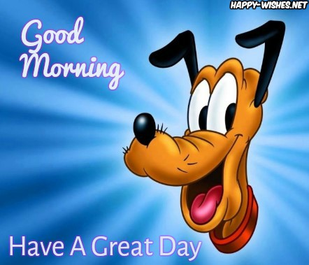 Good Morning Cartoon Images With Pluto Dog Photo