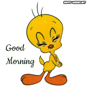 Good Morning Cartoon Images With Tweety Photo