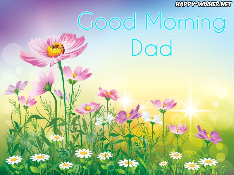 Good Morning Dad with cute images
