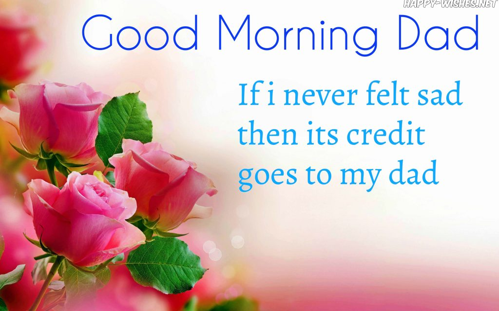Good Morning Dad with flower Background images