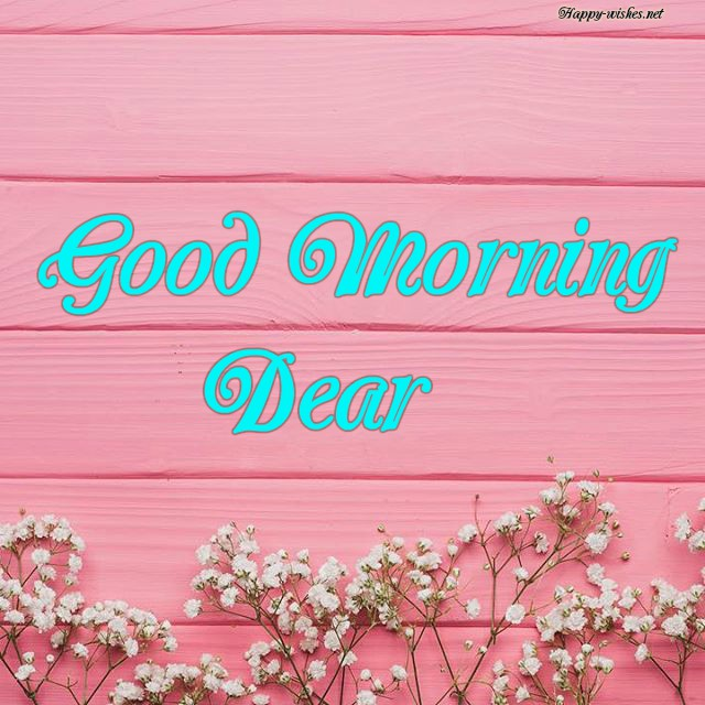 Good Morning Dear Wishes with Pink Background Images