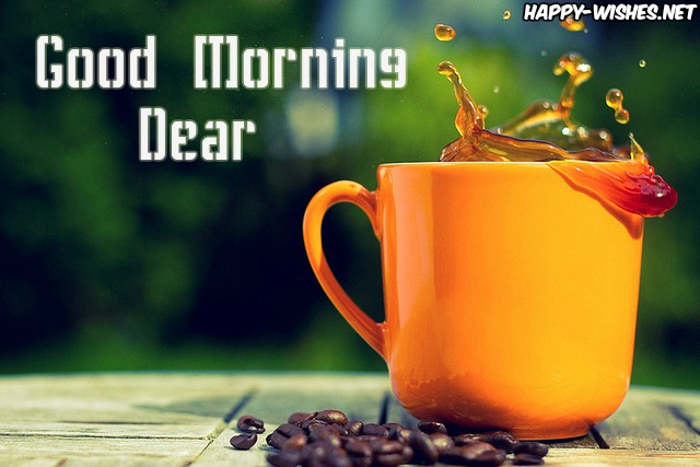 Good Morning Dear images with coffecup Images - Copy