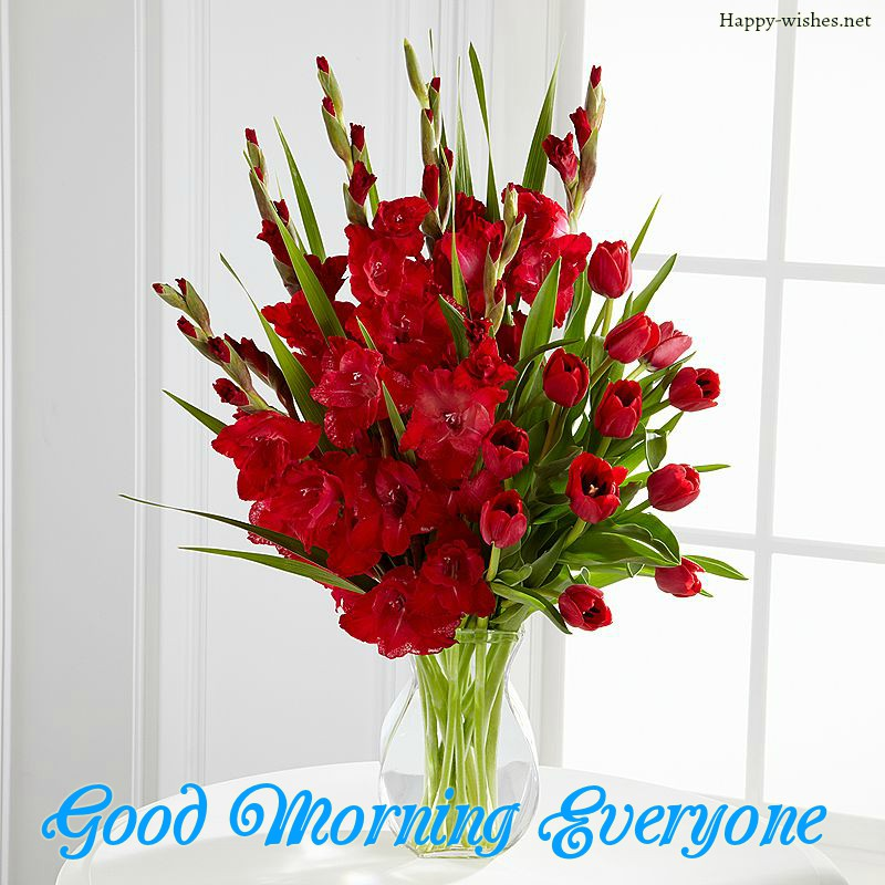 Good Morning Everyone Flower Vas Images
