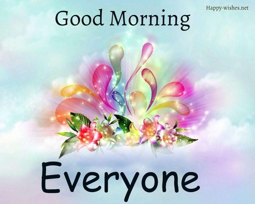 Good Morning Everyone shining images