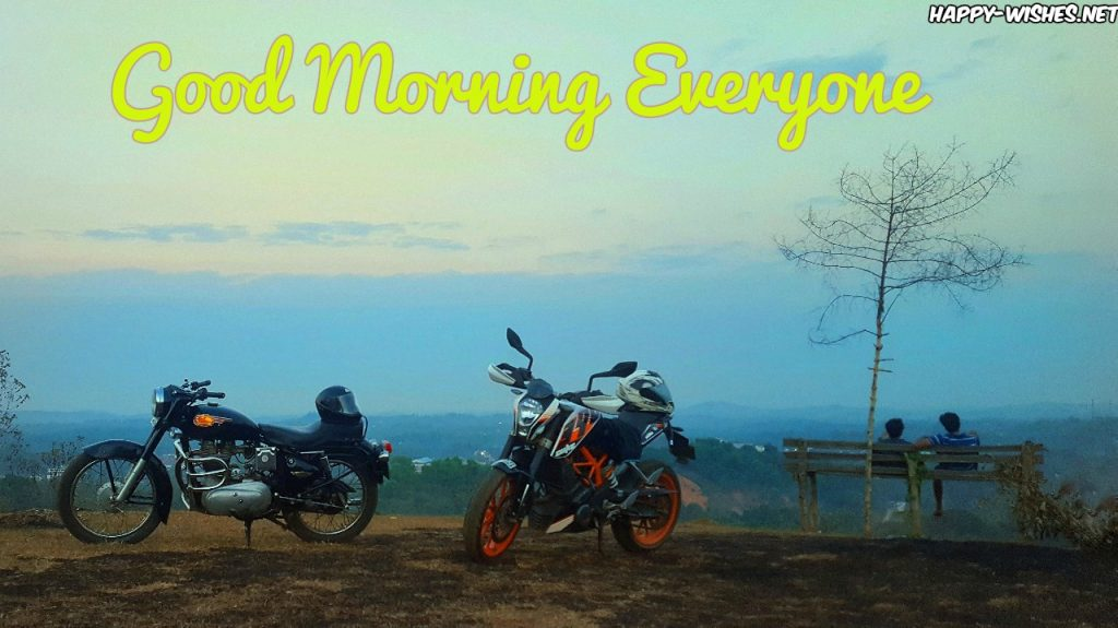 Good Morning Everyone wishes with cool background images