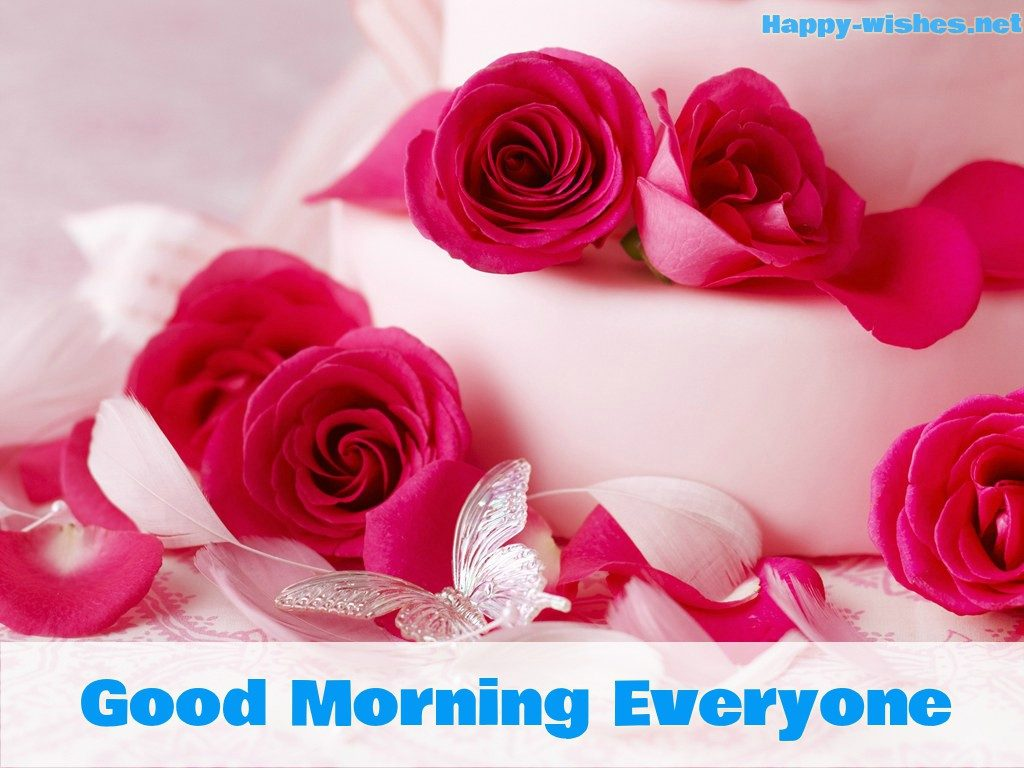 Good Morning Everyone with Rose images