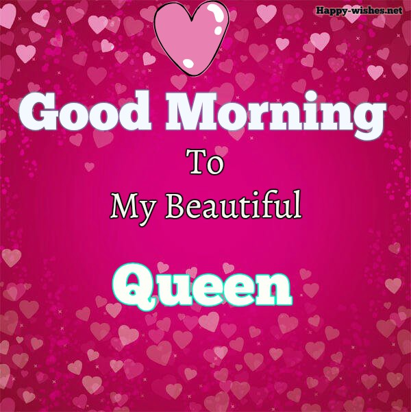 Good Morning My Queen-valentines-hearts-background