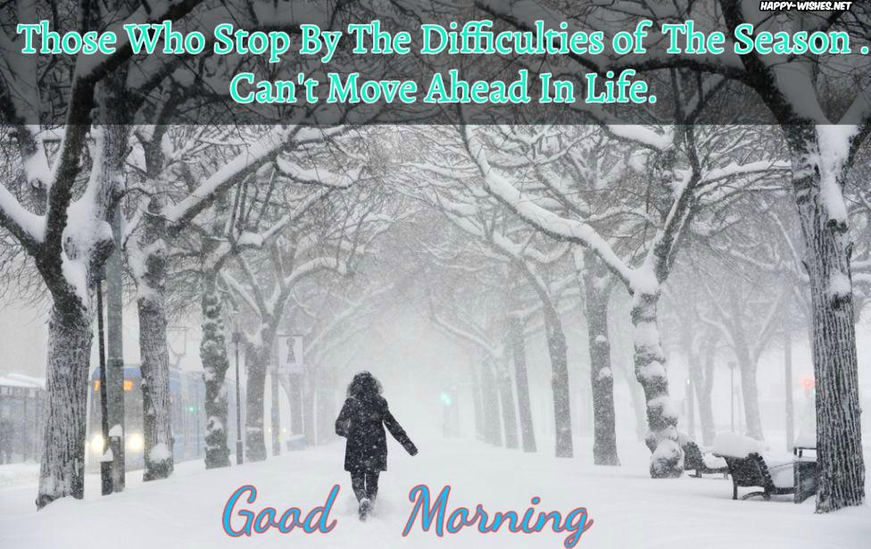 Good Morning Winter Man on Work Images