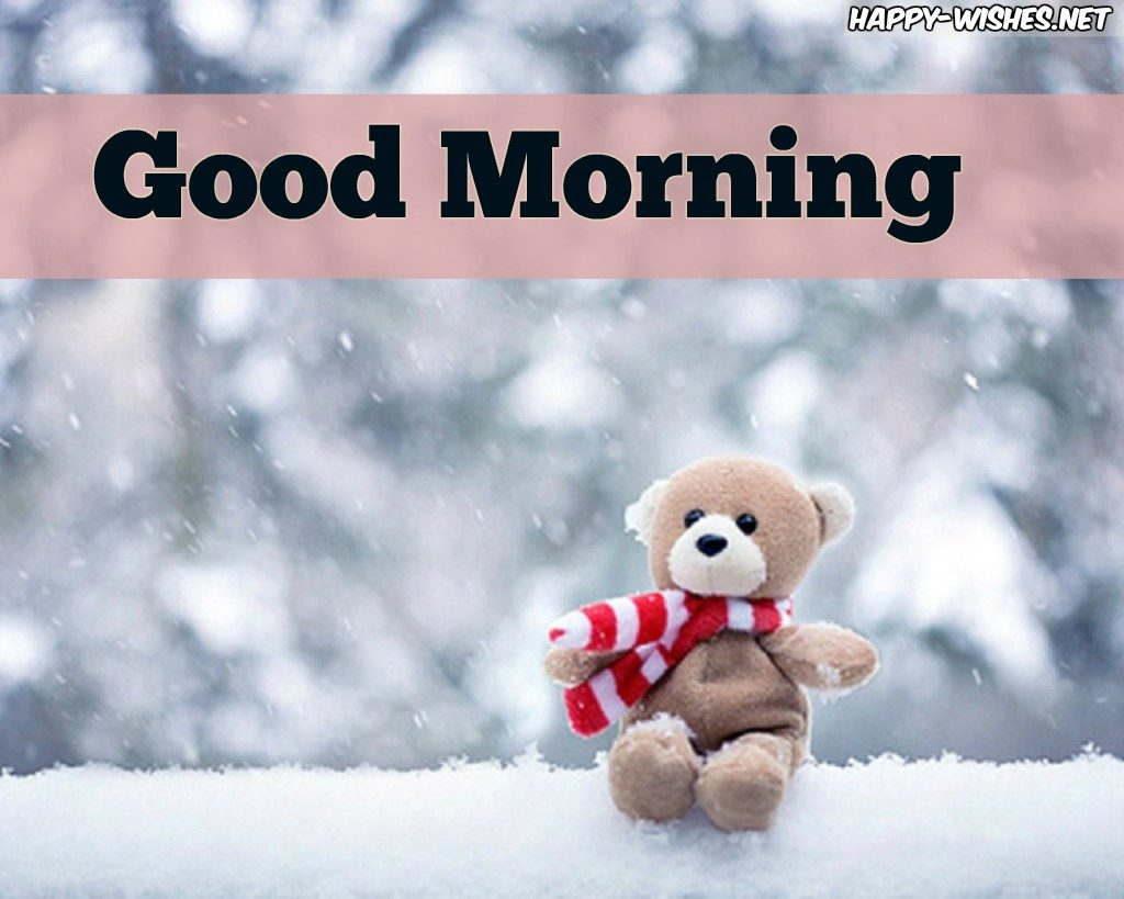 Good Morning Wishes With Chilling Teddy Images