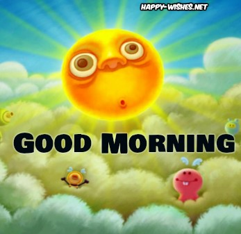 Good Morning Wishes With Sun Cartoon Images