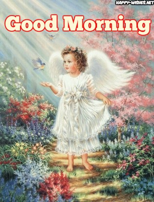Good Morning Wishes with Baby ANGEL IMAGES