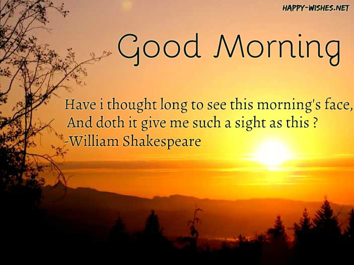 Good Morning Wishes with Shakespeare lines